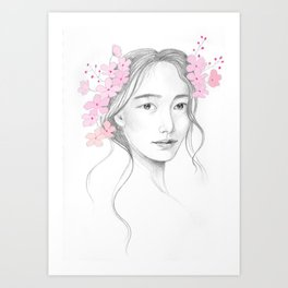 Japanese Cherry Blossom Art Print