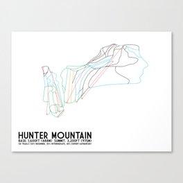 Hunter Mountain, NY - Minimalist Trail Art Canvas Print