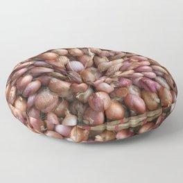 Little Onions in basket - Illustration Floor Pillow