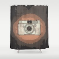 vintage camera Shower Curtains featuring Camera by Mr and Mrs Quirynen
