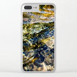 Warm Yuba Ripples Clear iPhone Case