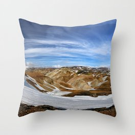 Landmannalaugar, Iceland Throw Pillow