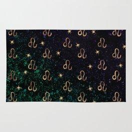 Leo Golden Zodiac Constellation Design Rug