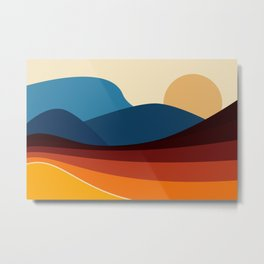 COLORFUL ABSTRACT LANDSCAPE ILLUSTRATION Metal Print