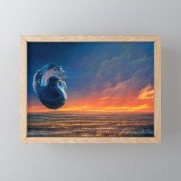Life on Titan Framed Mini Art Print