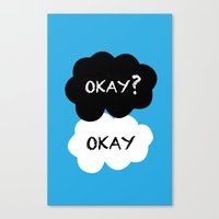 tfios Canvas Prints featuring TFIOS - Okay by //SOLIDS//