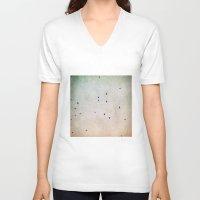 flight V-neck T-shirts featuring flight by Bonnie Jakobsen-Martin