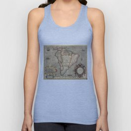 Vintage Map of South America (1606) Unisex Tank Top