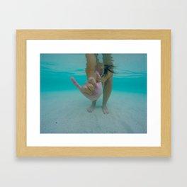 Shaka! Framed Art Print