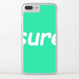 sure: seafoam Clear iPhone Case
