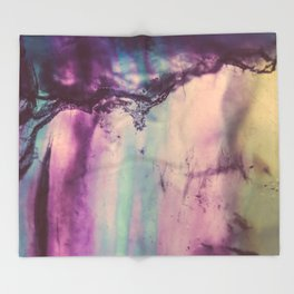 Purple Fluorite from our Earth Throw Blanket