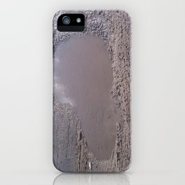 Sometimes love is just a pothole in the road of life. iPhone Case