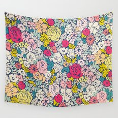 Vintage flowers Wall Tapestry