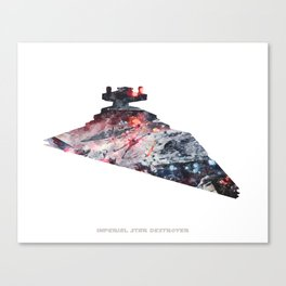 Star War Imperial Star Destroyer - Wall Art, Poster, Print, Watercolor, Fine Art, Series 6 of 6 Canvas Print