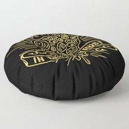 In Crust We Trust - Funny Pizza Addict Illustration Floor Pillow