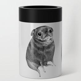 Sweet Black Pug Can Cooler