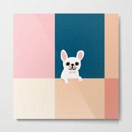 Little_French_Bulldog_Love_Minimalism_001 Metal Print