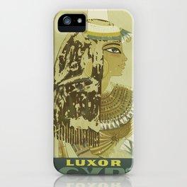 Vintage poster - Luxor, Egypt iPhone Case