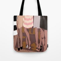 legs Tote Bags featuring legs by yayanastasia