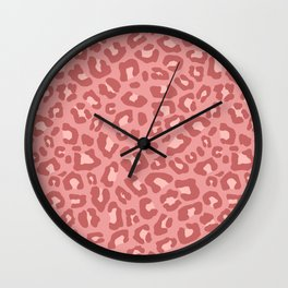 Leopard Print 2.0 - Terracotta Wall Clock