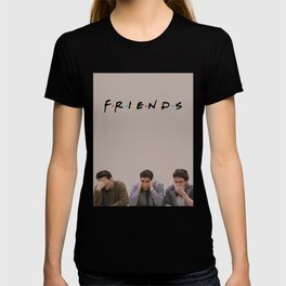 The One with Joey, Ross and Chandler face's. T-shirt