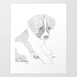 Portrait of Rowdy Art Print