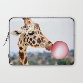 Bubble Gum Giraffe Laptop Sleeve