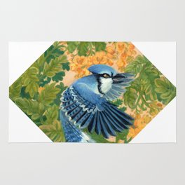 Autumn Song: Blue Jay and Cassia Rug