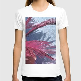 Plants with purple leaves over sea T-shirt