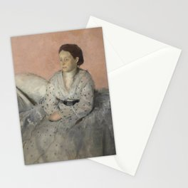 Portrait of Madame René de Gas Stationery Cards
