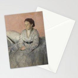 Portrait of Madame René de Gas Stationery Cards