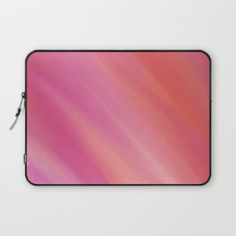 soft pink and orange colorful abstract Laptop Sleeve