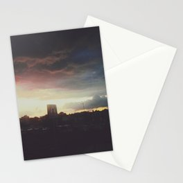 Dark colored clouds Stationery Cards
