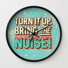 TURN IT UP! Wall Clock