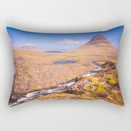 Kirkjufell Snaefellsjokull  Iceland Rectangular Pillow