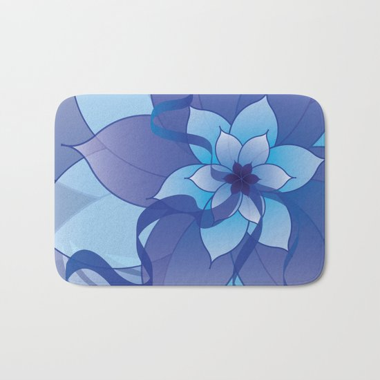 The Lady in Blue Bath Mat