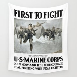 First To Fight -- US Marine Corps Wall Tapestry