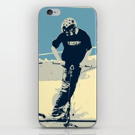 On the Rim - Scooter Boy iPhone Skin