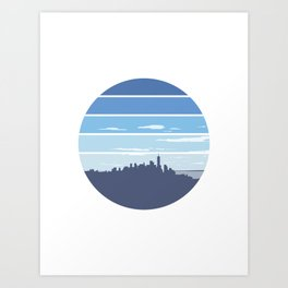 New York in the Spring Art Print