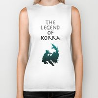 the legend of korra Biker Tanks featuring The Legend of Korra [1/2] by Shane Lewis