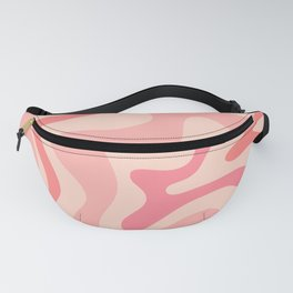 Liquid Swirl Abstract in Soft Pink Fanny Pack