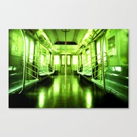 subway Canvas Prints featuring Subway by Jacquie Fonseca