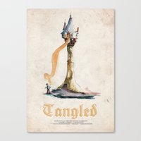 tangled Canvas Prints featuring Tangled by Archie Bagnall