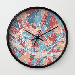 Florence map, Italy Wall Clock