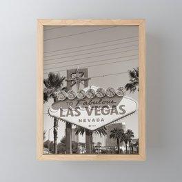 To Fabulous Las Vegas Framed Mini Art Print