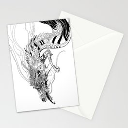 Falling dragon Stationery Cards