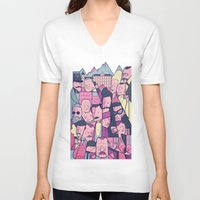 the grand budapest hotel V-neck T-shirts featuring Grand Hotel by Ale Giorgini