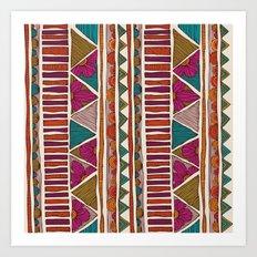Tribal stripes Art Print