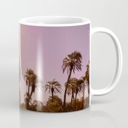 Beautiful landscape with sunlight and palm trees Coffee Mug