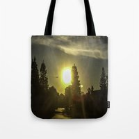 airplanes Tote Bags featuring Airplanes & Sunshine  by Liese May Photography